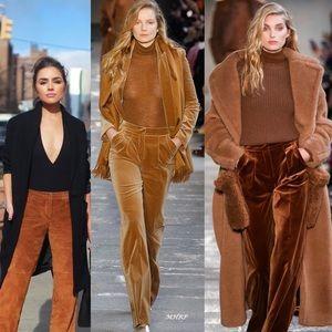 H&M Soft Velvet Velour Boot Cut Pants Slacks